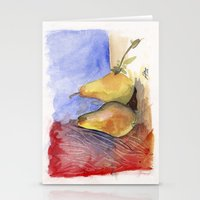 Peared Abstraction Stationery Cards