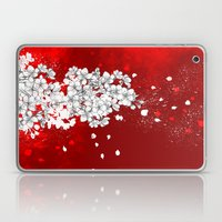 Red Skies And White Saku… Laptop & iPad Skin