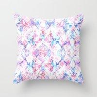 Ikat #5A Throw Pillow