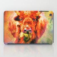 Jazzy Buffalo Colorful Animal Art by Jai Johnson iPad Case