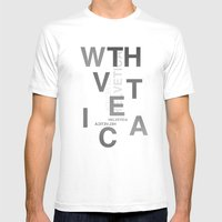 WTH...vetica Mens Fitted Tee White SMALL