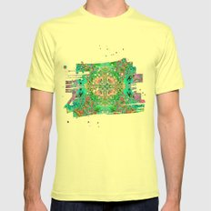 Above & Beyond Night Mens Fitted Tee Lemon SMALL