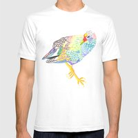 Long Legged Mens Fitted Tee White SMALL