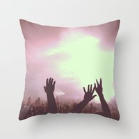 Pretty Lights Throw Pillow