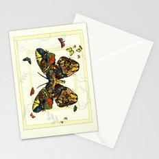 Colorful Butterfly Collage Stationery Cards