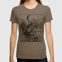 Cat Scratch Fever Womens Fitted Tee Tri-Coffee SMALL