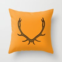 Stag Throw Pillow