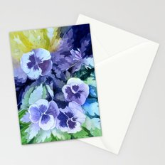 Pansies Crush  Stationery Cards