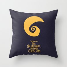 The Nightmare Before Christmas - Minimalist Poster 02 Throw Pillow