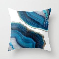 Blue Agate Throw Pillow