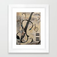 Electric Violin Framed Art Print