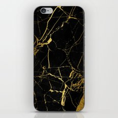 Black and Gold Marble iPhone & iPod Skin