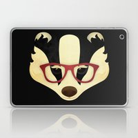 Hipster Badger Laptop & iPad Skin