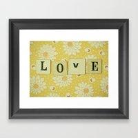 Love No.4 Framed Art Print