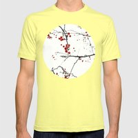 Little Red Kisses Mens Fitted Tee Lemon SMALL