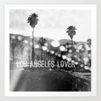 Los Angeles lover number 2 Art Print