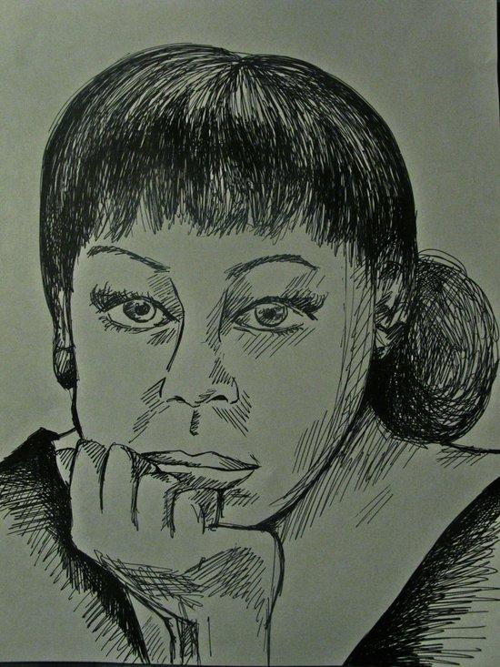 Adele Sketch Art Print