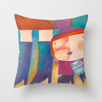 La bruja chiquita Throw Pillow