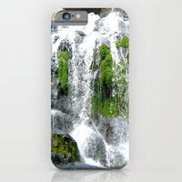 Waterfall Over Green Roc… iPhone 6 Slim Case