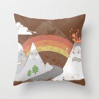 Volcano Fact Throw Pillow