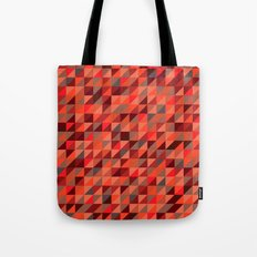 Quilted Reds / Retro Triangles Tote Bag