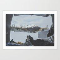 Camping In The Rockies Art Print
