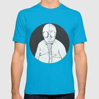 End of the world dude Mens Fitted Tee Teal SMALL