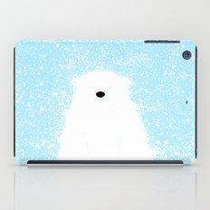 Its A Polar Bear Blinking In A Blizzard - Blue iPad Case