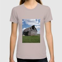 Abandoned Barn #7 Womens Fitted Tee Cinder SMALL