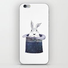 Mr. Rabbit and the Mad Hatter hat iPhone & iPod Skin