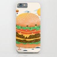 iPhone & iPod Case featuring Burgerland by Dan Elijah G. Fajard…
