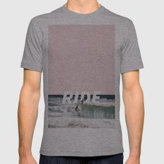 Ride Mens Fitted Tee Athletic Grey SMALL