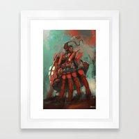 Spider rider Framed Art Print