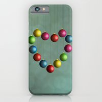 iPhone & iPod Case featuring Christmas time heart by Emma Harckham