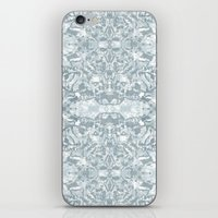 Lace Geometric // Kaleidoscope of blues iPhone & iPod Skin