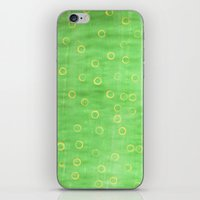 Green And Yellow Abstrac… iPhone & iPod Skin