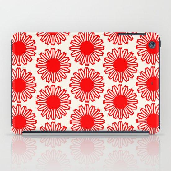 Vintage Flower-Red iPad Case