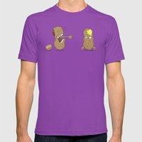 Crack Up Mens Fitted Tee Ultraviolet SMALL
