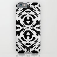 iPhone & iPod Case featuring Arrow Tribe Black & White by Nina May Designs