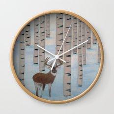 Winter Birch Wall Clock