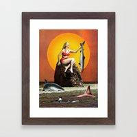 Shark Fishing (should Be… Framed Art Print