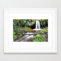 Scott Falls In Spring - … Framed Art Print