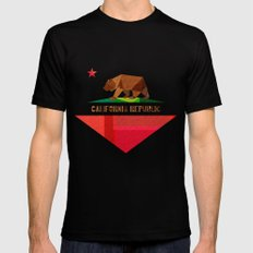 California SMALL Black Mens Fitted Tee