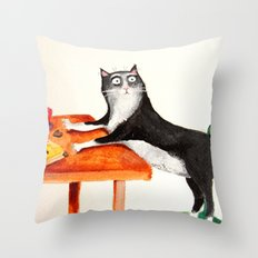 Every morning... Throw Pillow