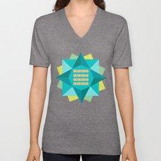 Abstract Lotus Flower - Yoga Print Unisex V-Neck