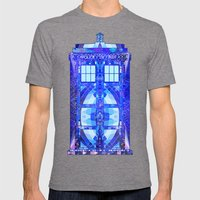 The Tardis Mens Fitted Tee Tri-Grey SMALL