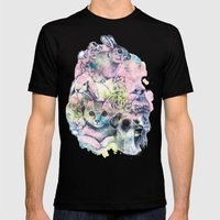ANIMALS Mens Fitted Tee Black SMALL