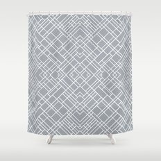 Map Outline 45 Grey Repeat Shower Curtain