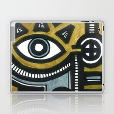 Blue and Gold Face Laptop & iPad Skin