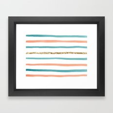 Sparkle Stripe Framed Art Print